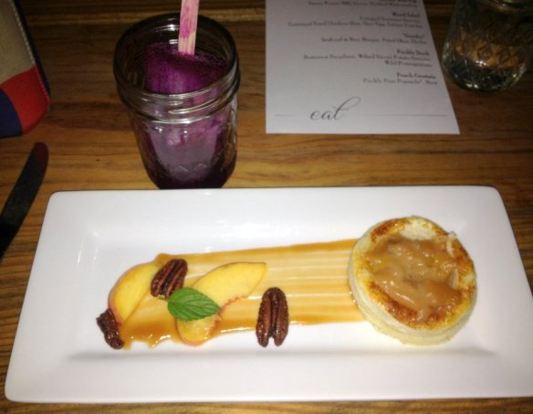 Peach Crostata and Prickly Pear Popsicle